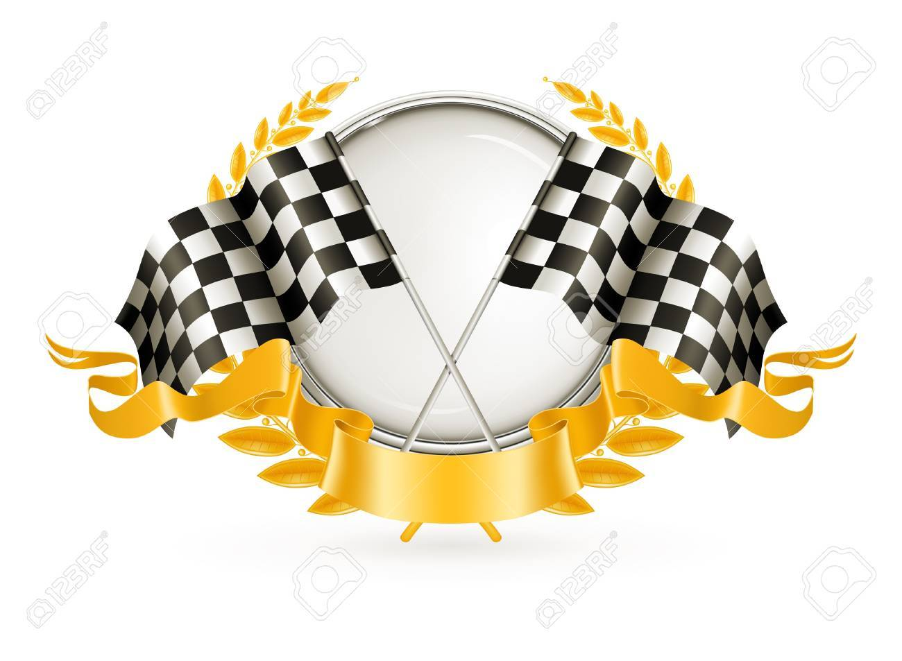 Silver Racing Emblem Stock Vector - 13696240