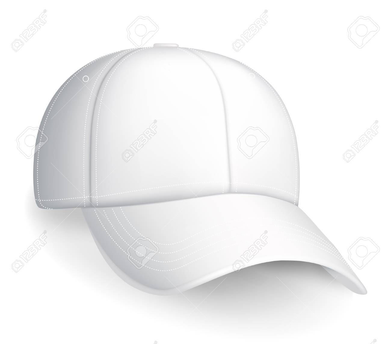 White baseball cap Stock Vector - 13696080