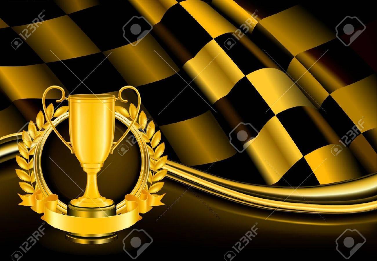 Champion Background Stock Vector - 13738331