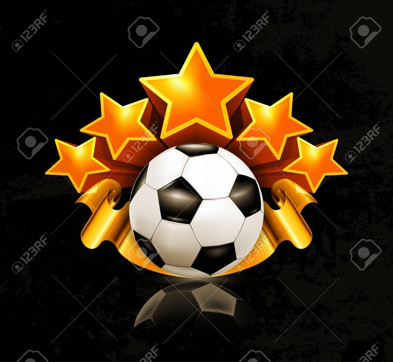 Orange sports emblem, football Stock Vector - 13739222