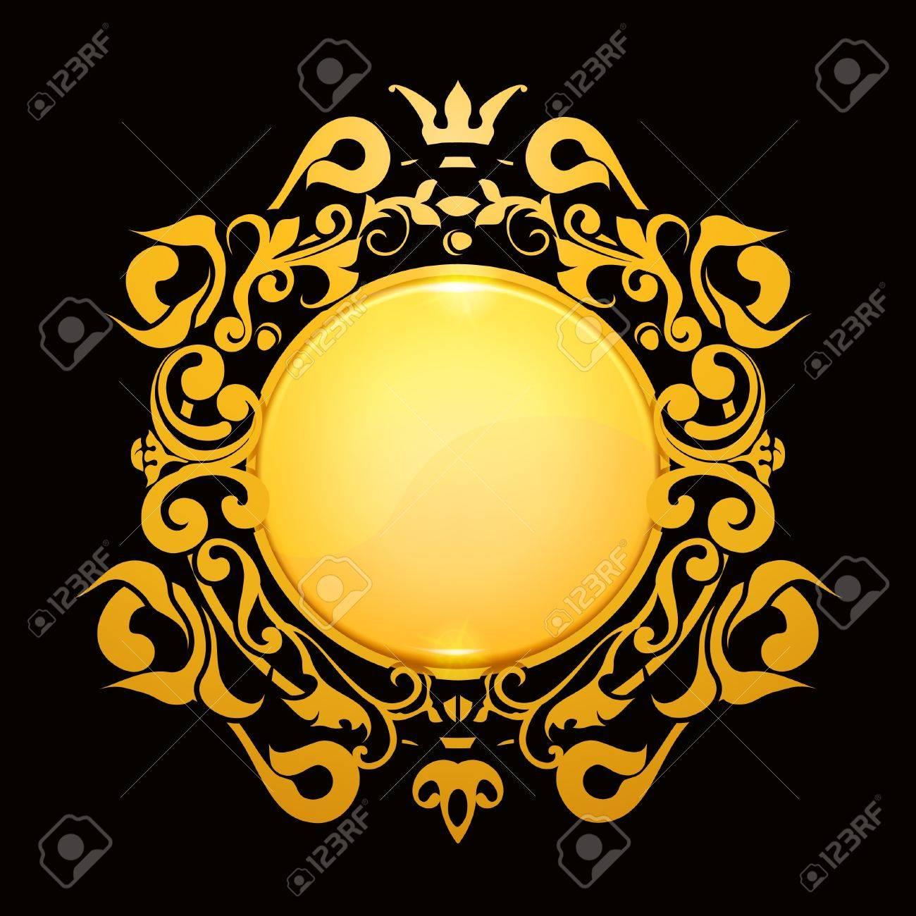 Gold Frame Stock Vector - 13759014