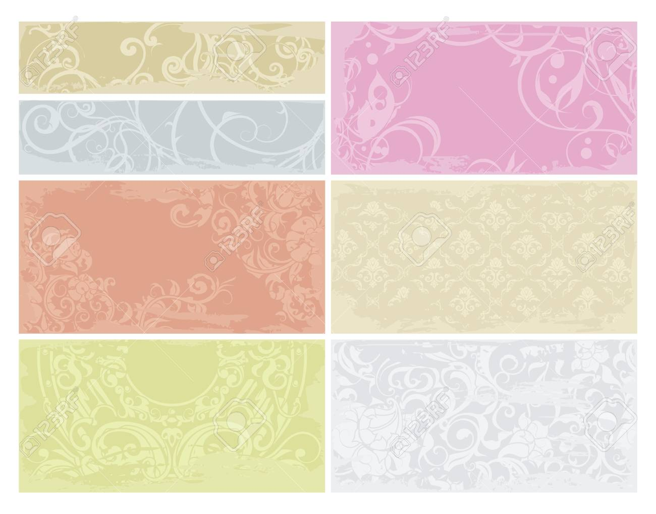 Patterned cards set Stock Vector - 13759013