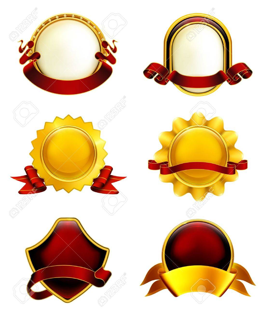 Luxury Labels with ribbons Stock Vector - 13759082