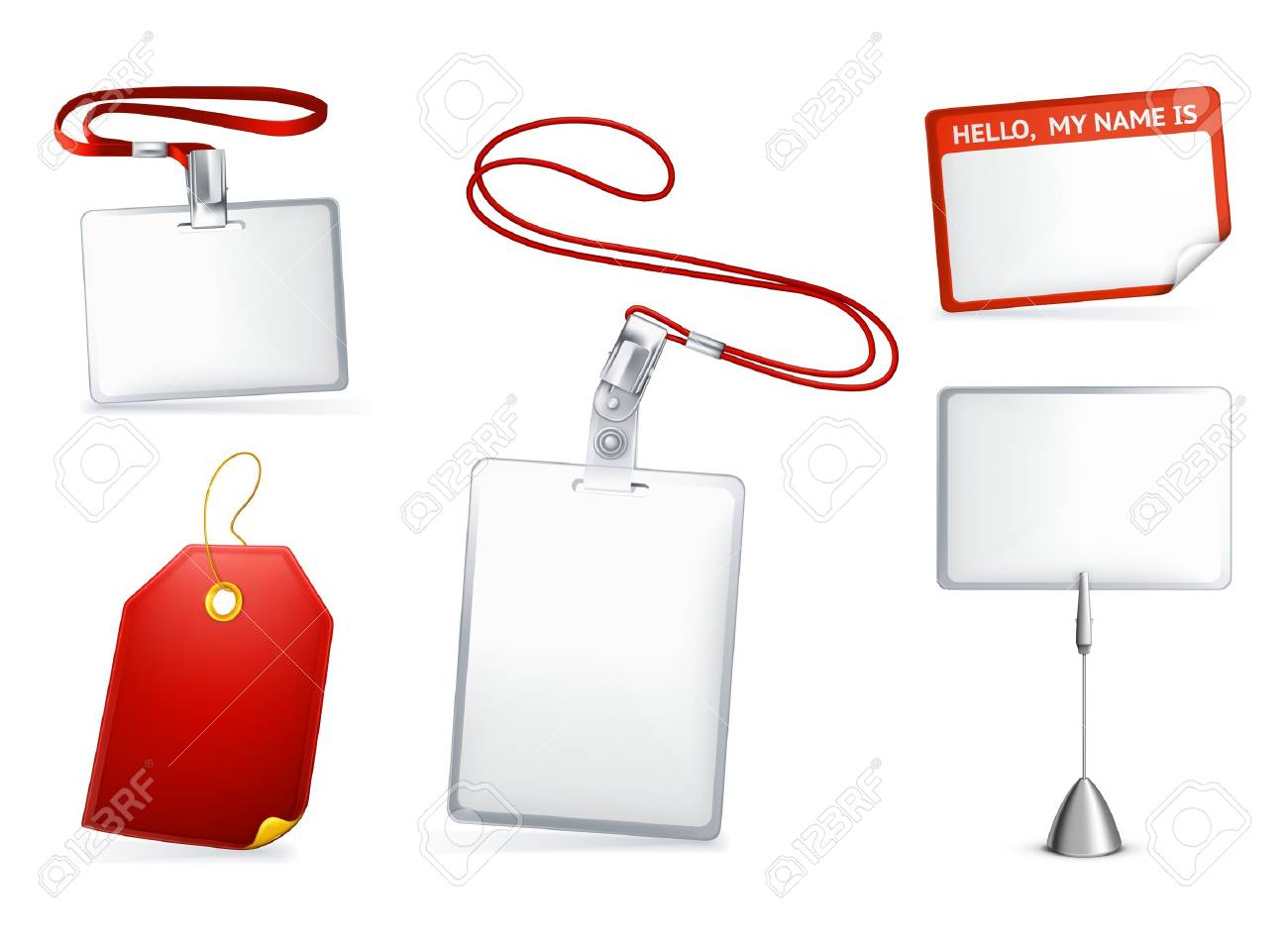 Set of empty tags Stock Vector - 13777222