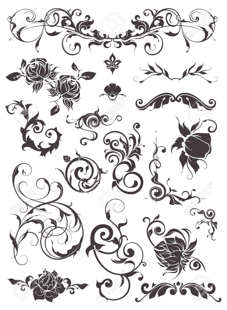 Vintage design elements, set Stock Vector - 13777223