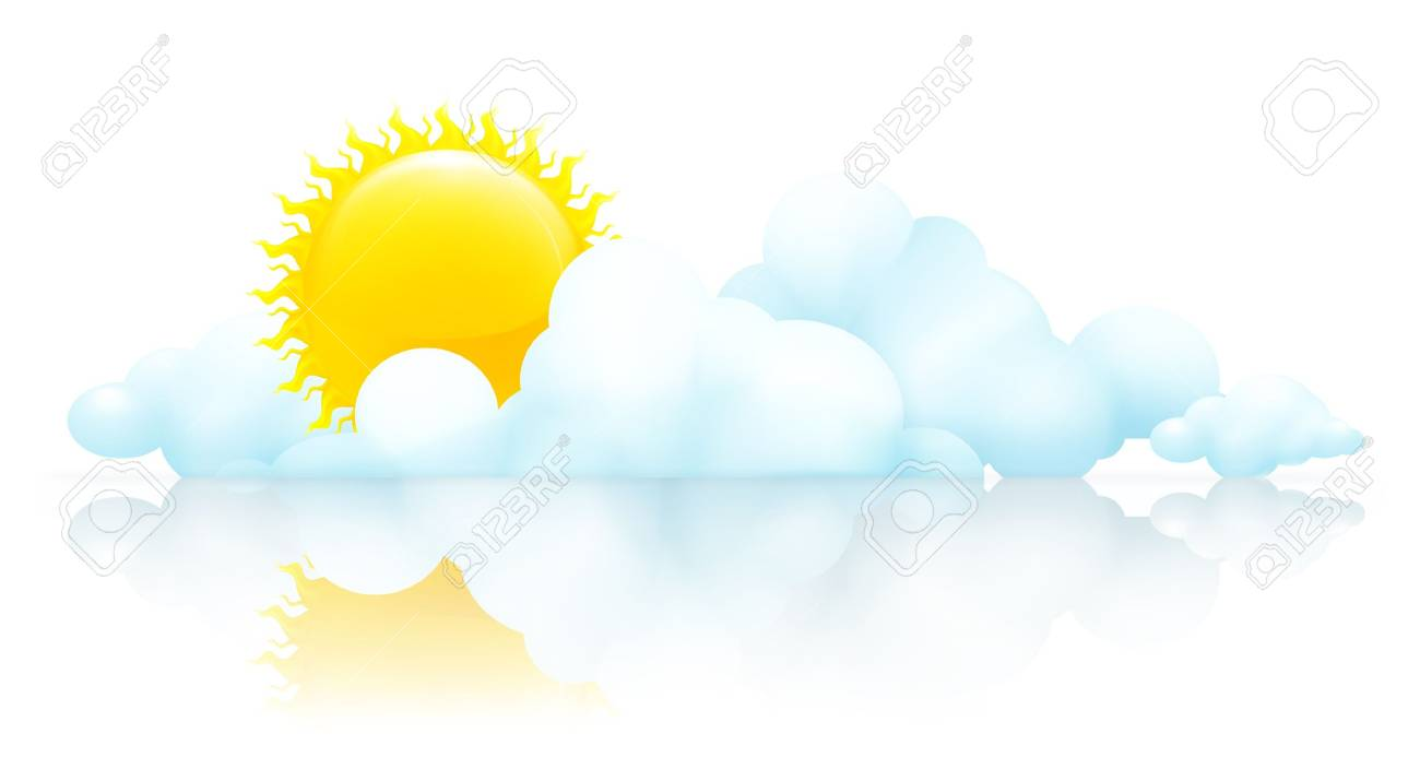 Sun and clouds Stock Vector - 13798095
