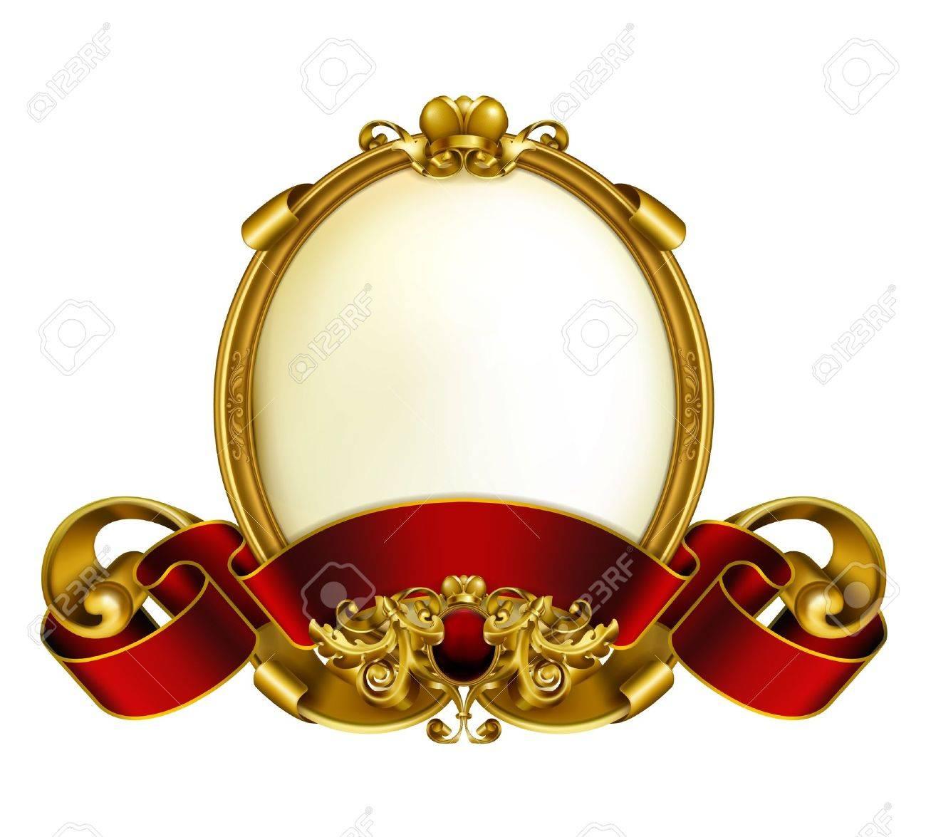 Antique Oval Frame Design