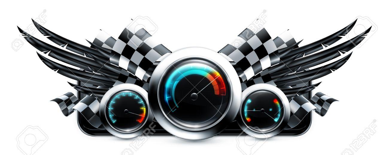 Dashboard emblem Stock Vector - 13798410