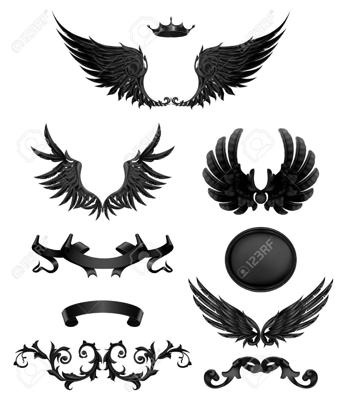 Design elements with wings   Eagle Wings Design