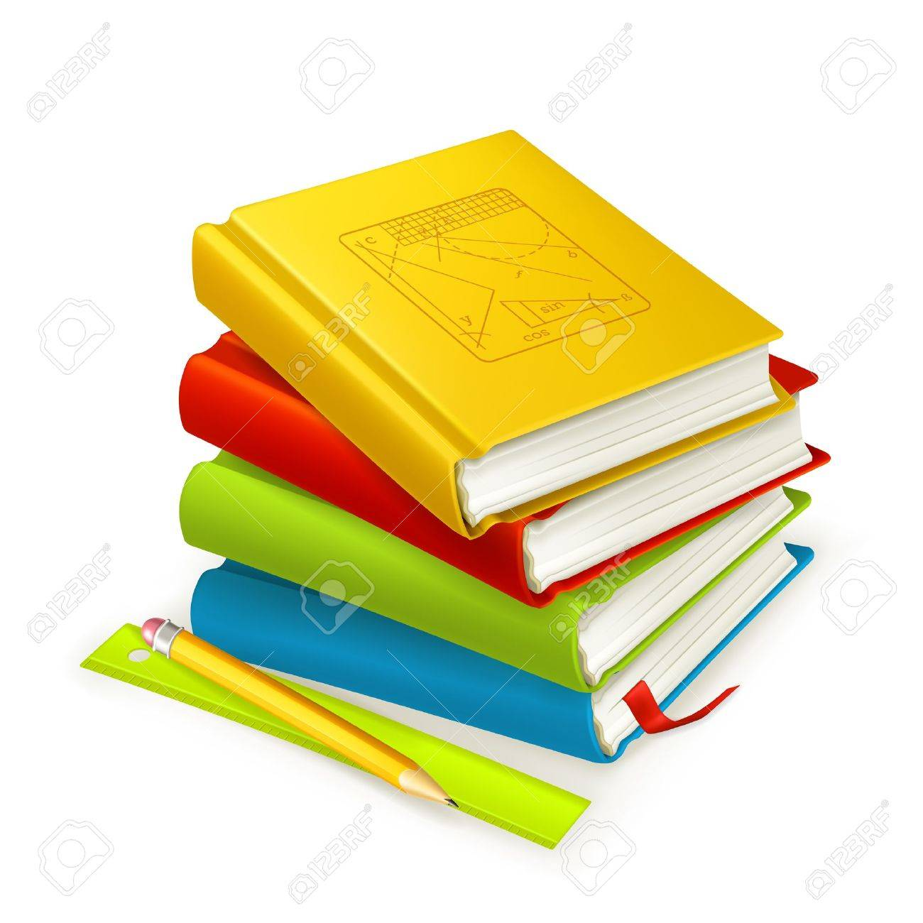 Stack of textbooks Stock Vector - 13798557