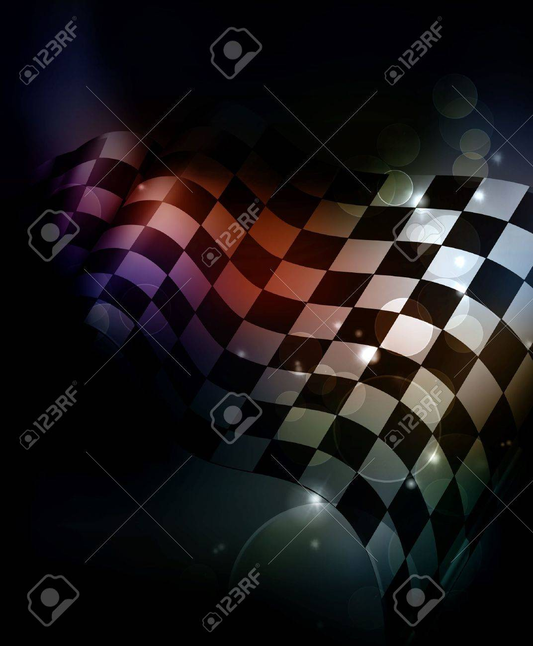 Dark Checkered Background Stock Vector - 13833710