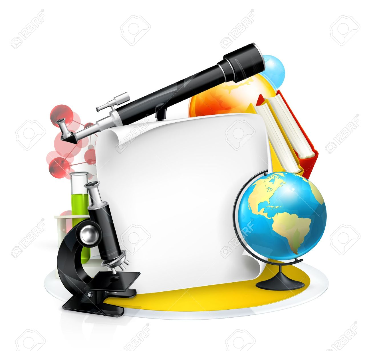 Education and Science frame Stock Vector - 13843592