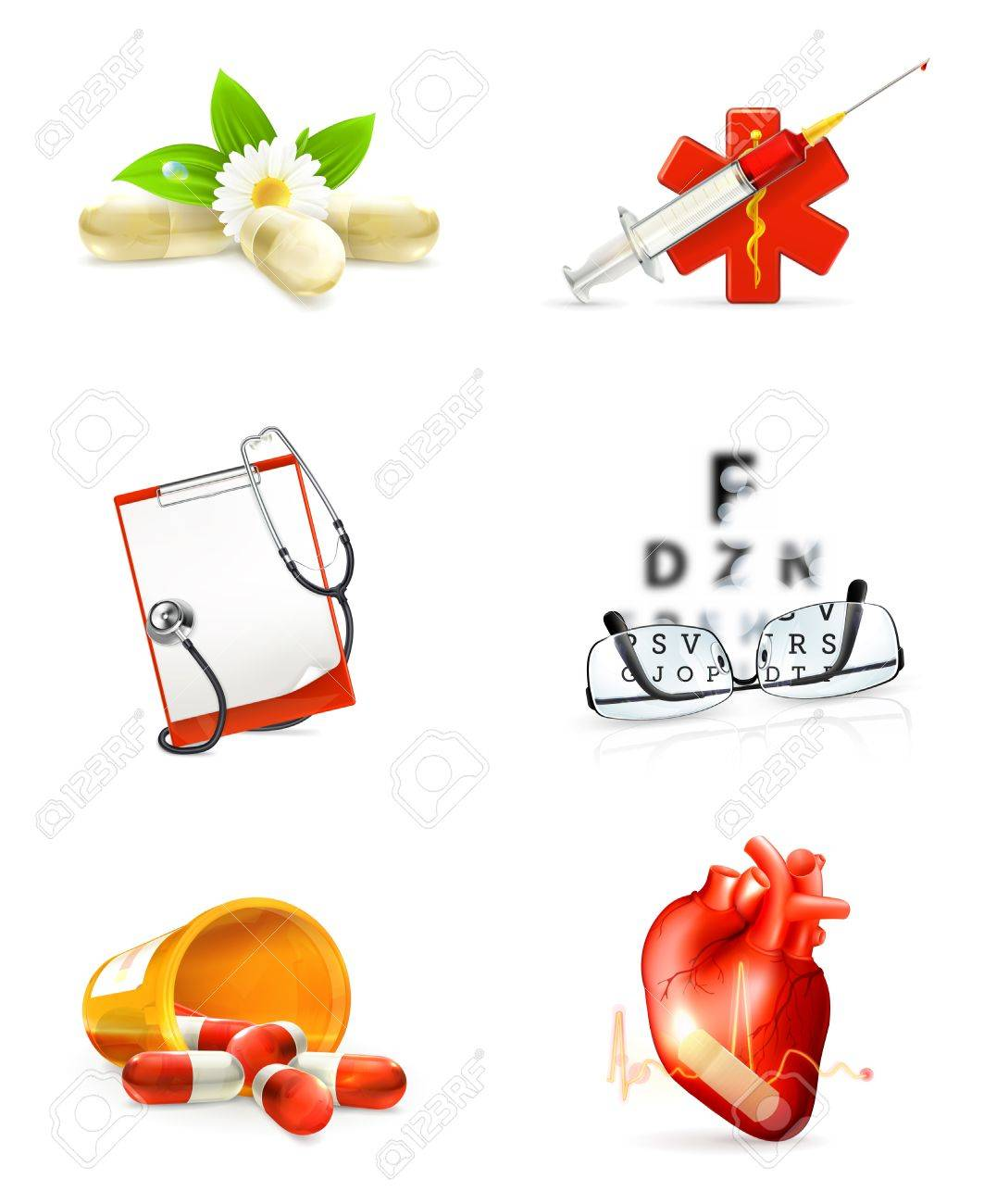 Medicine, set of icons Stock Vector - 13858055