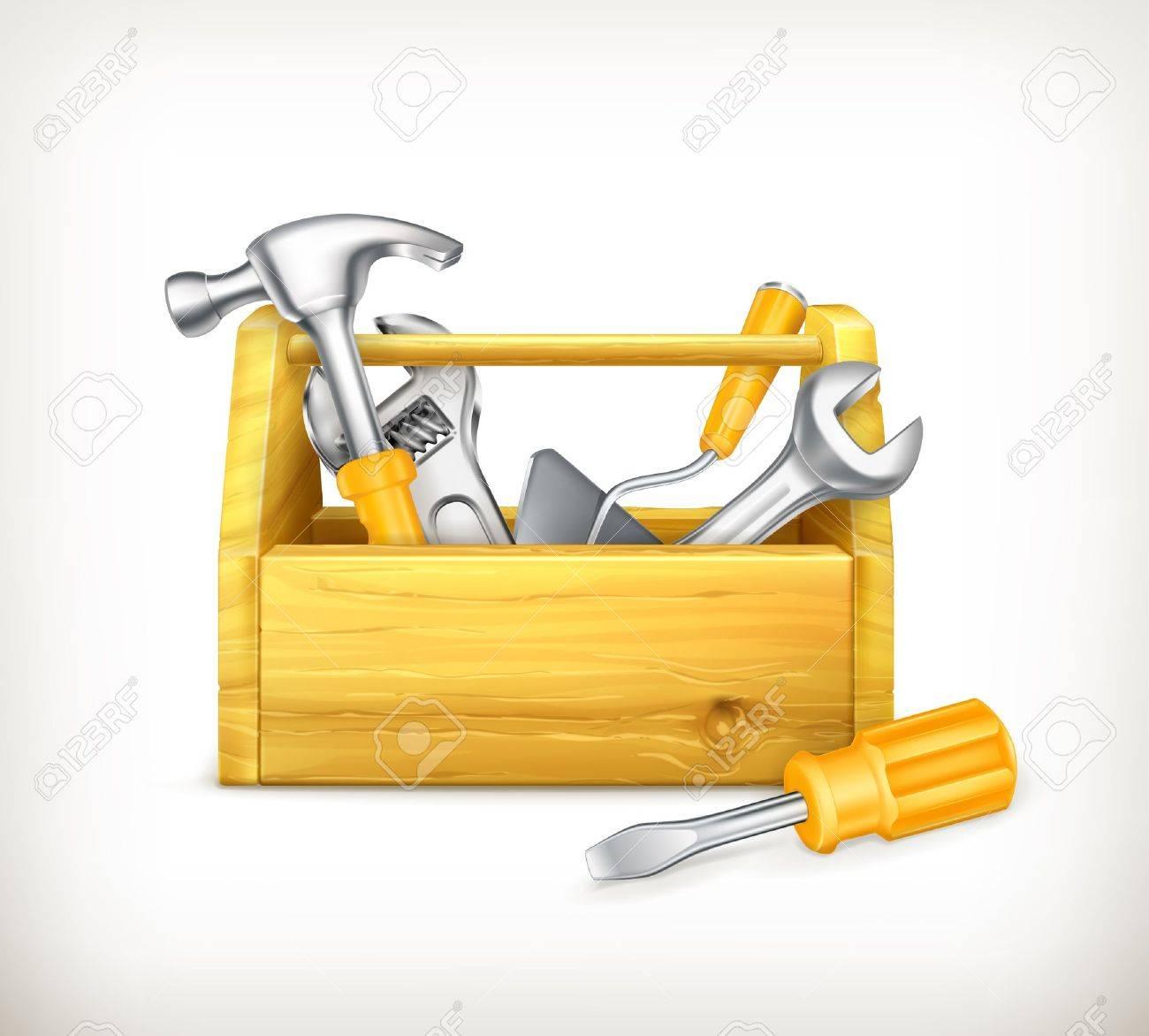 Wooden toolbox Stock Vector - 13868908