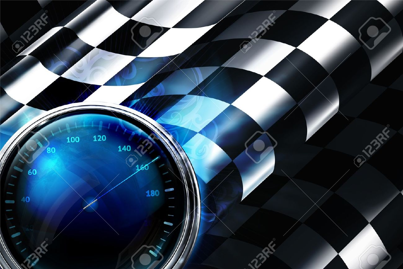 Design car flags - Racing Flag Checkered Background