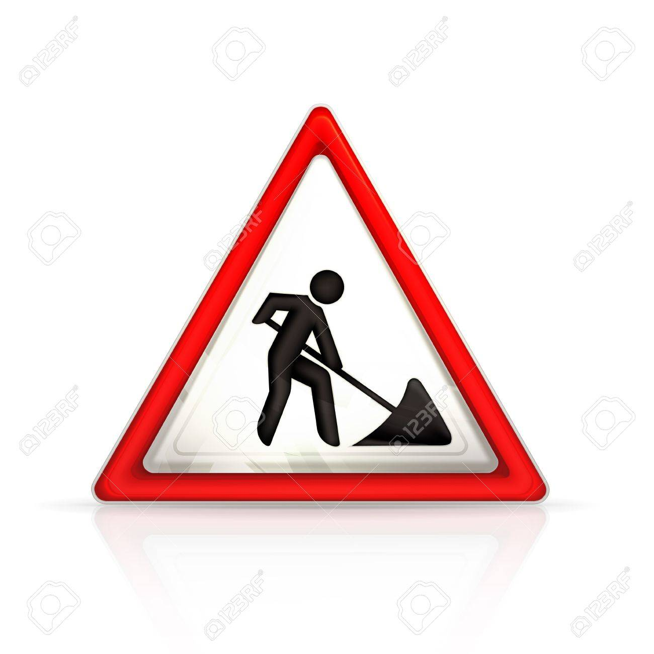 Roadworks sign Stock Vector - 13898697