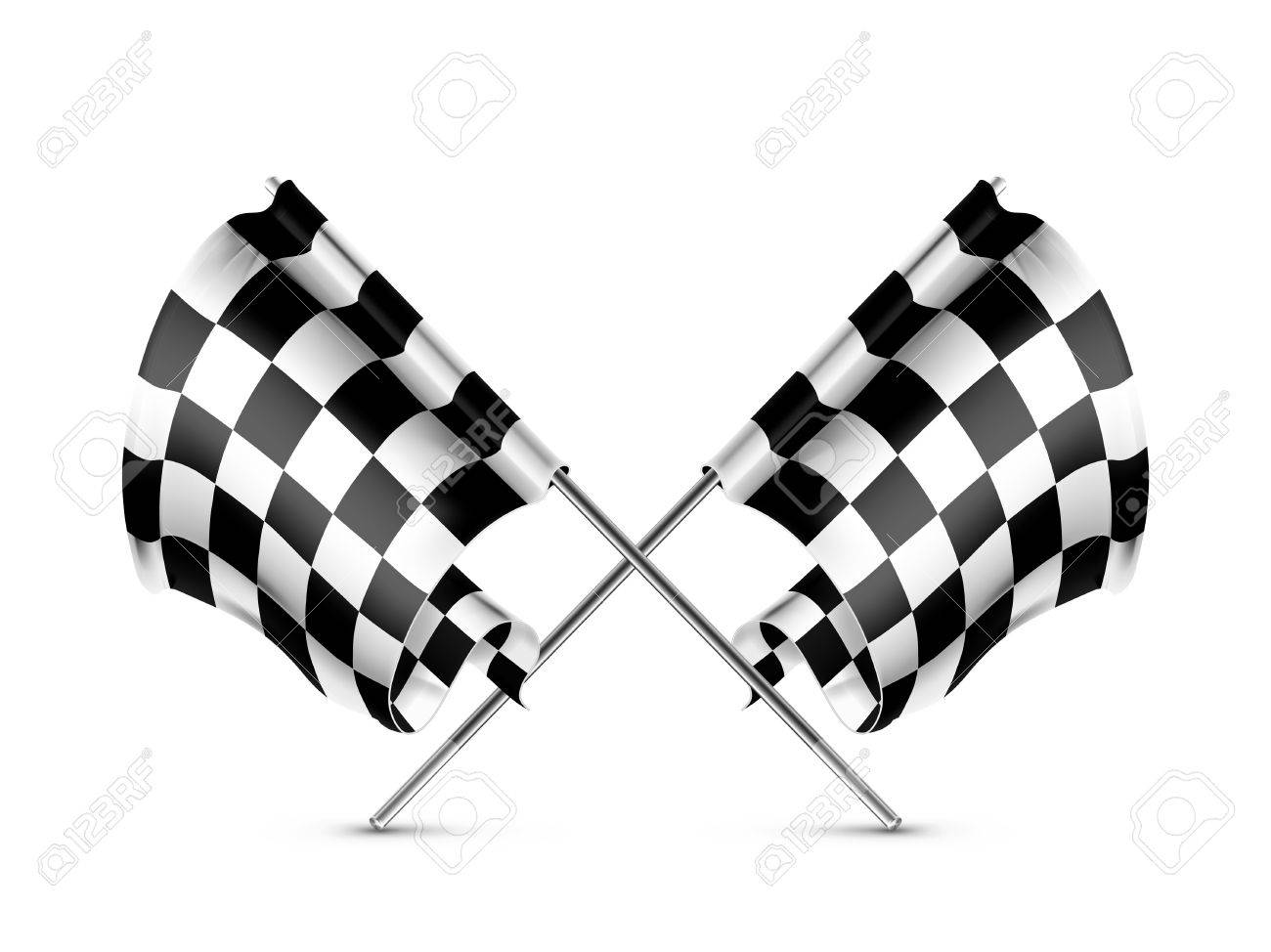 Two crossed checkered flags Stock Vector - 13898698
