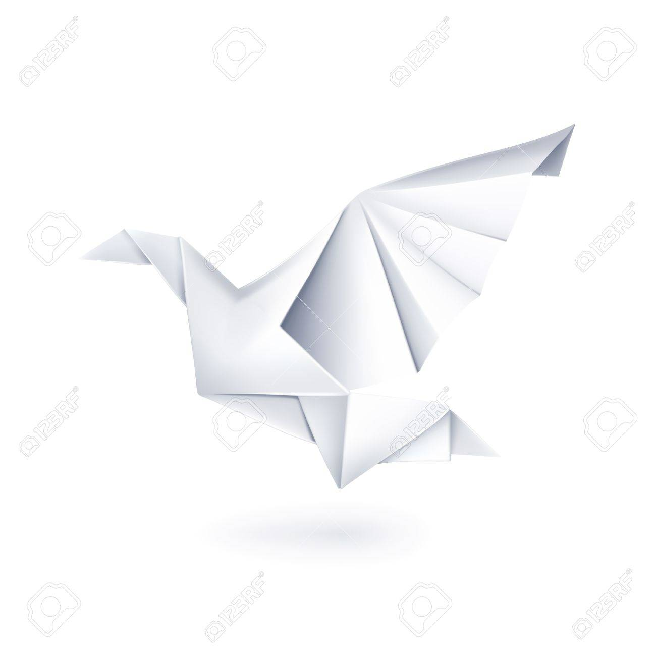Paper Dove Origami Stock Vector
