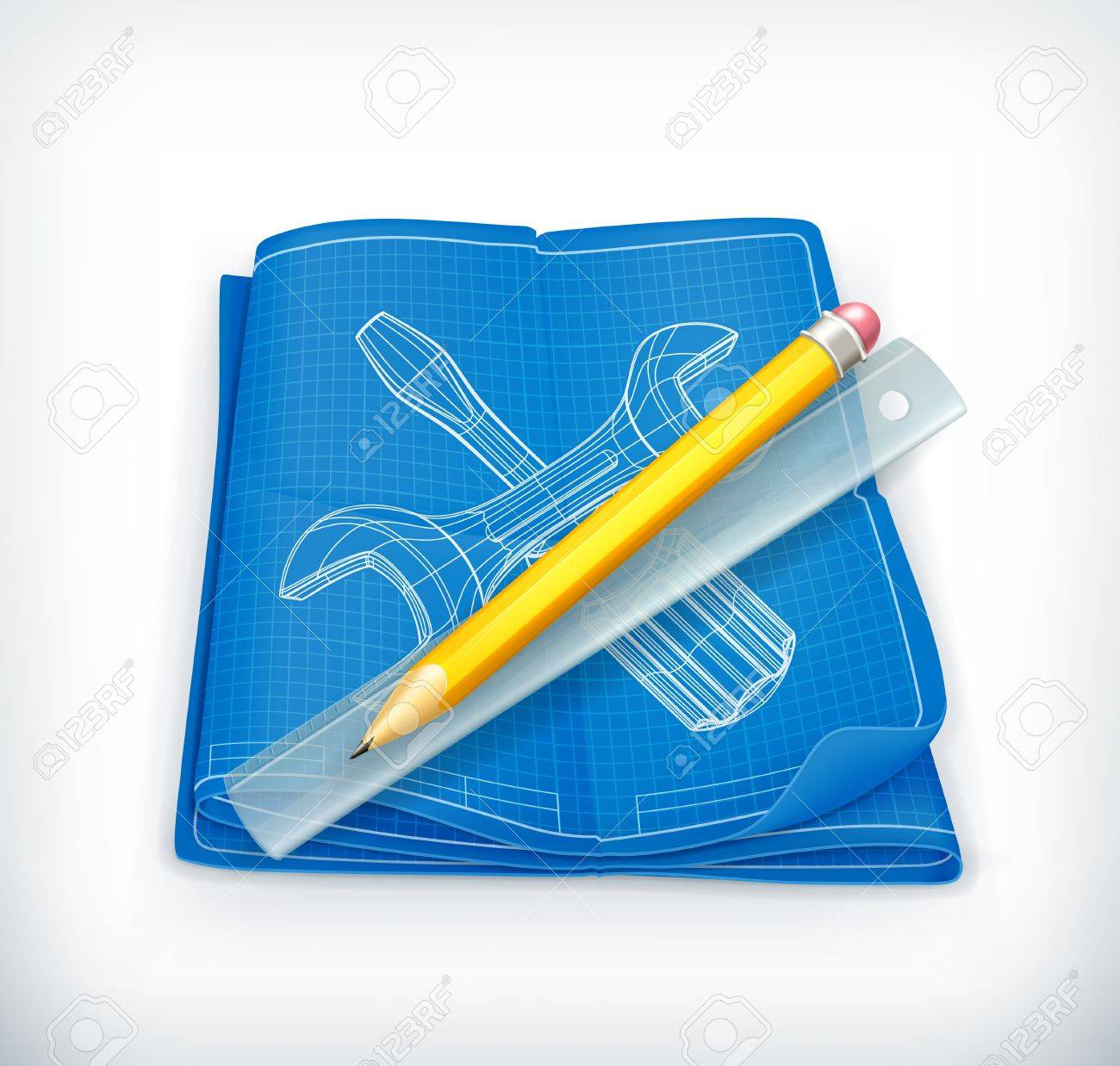 Technical drawing icon Stock Vector - 13900007