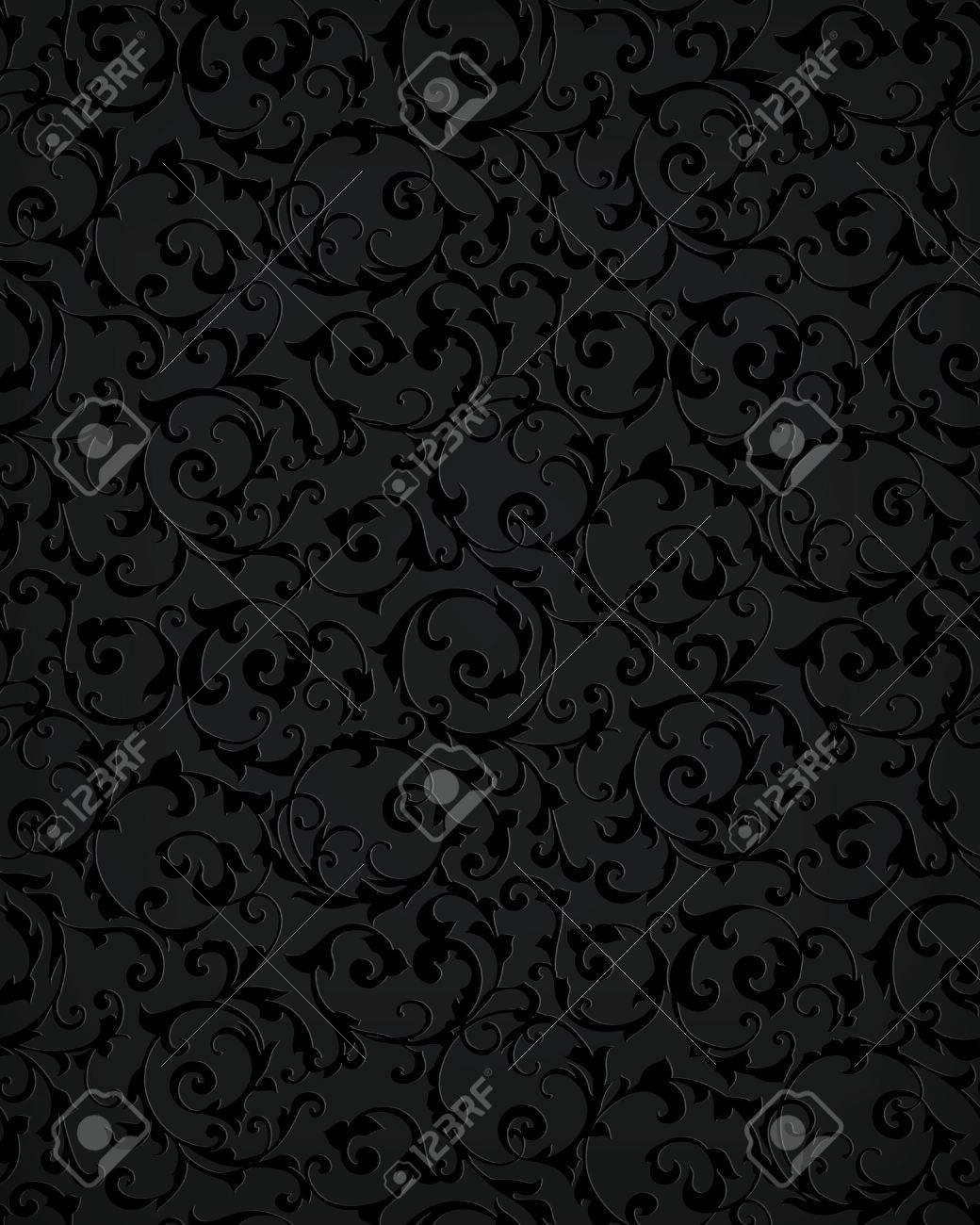 Black seamless pattern Stock Vector - 14268508