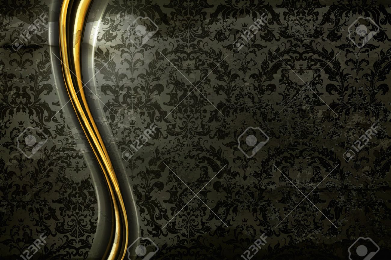 Black Luxury Background old-style Stock Vector - 14671625