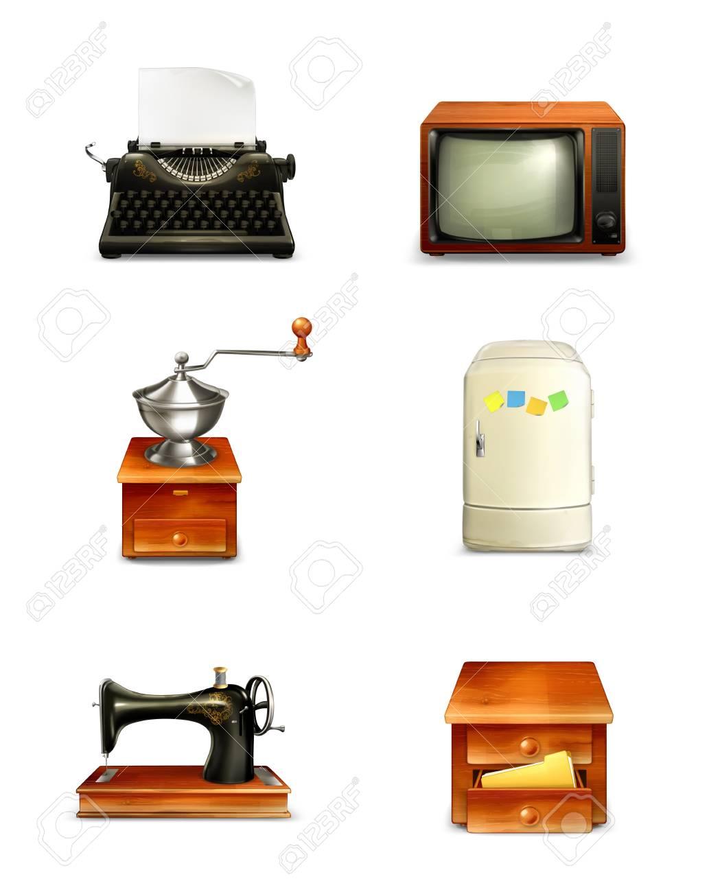 Retro icon set Stock Vector - 15083590