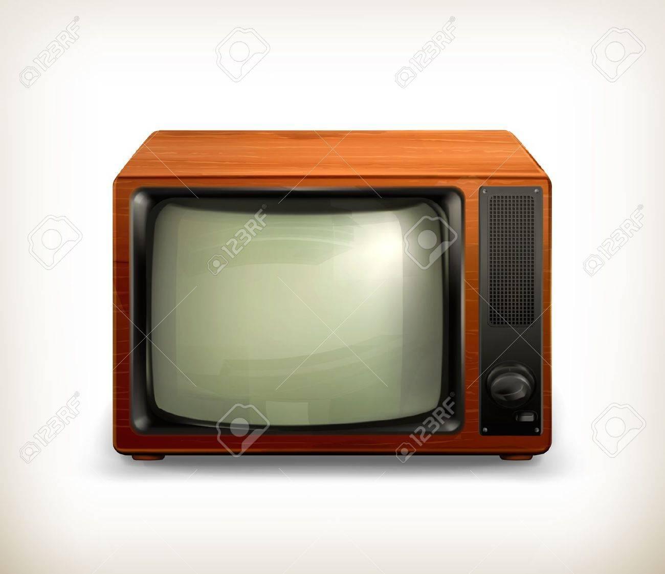 TV set retro Stock Vector - 15083577