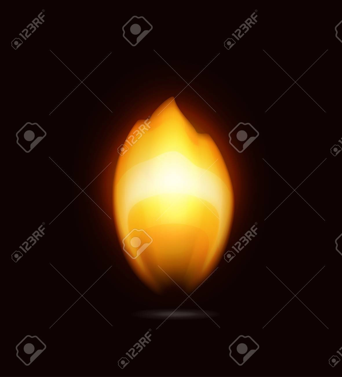 Flame on black, icon Stock Vector - 16145550