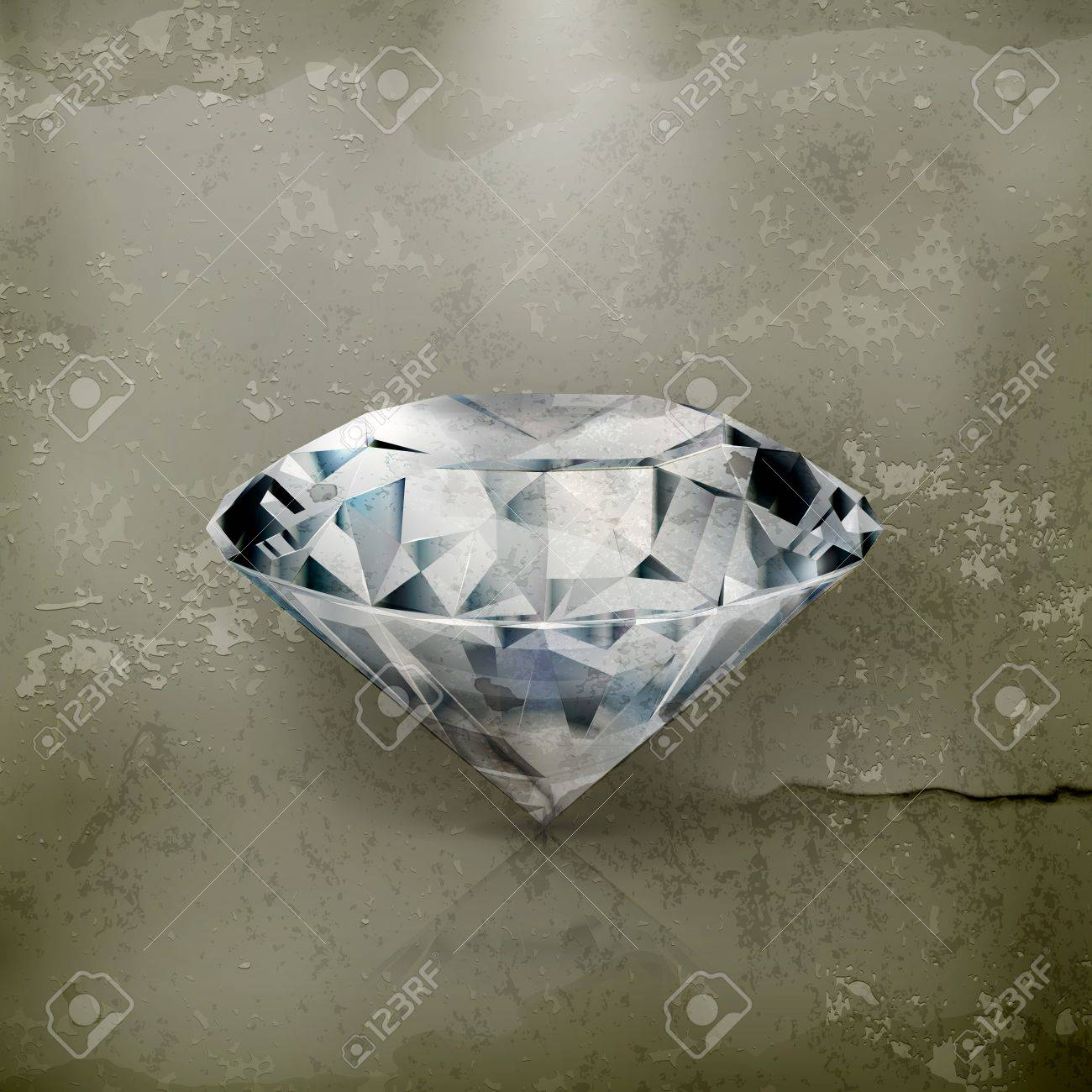 Diamond, old-style Stock Vector - 16295500