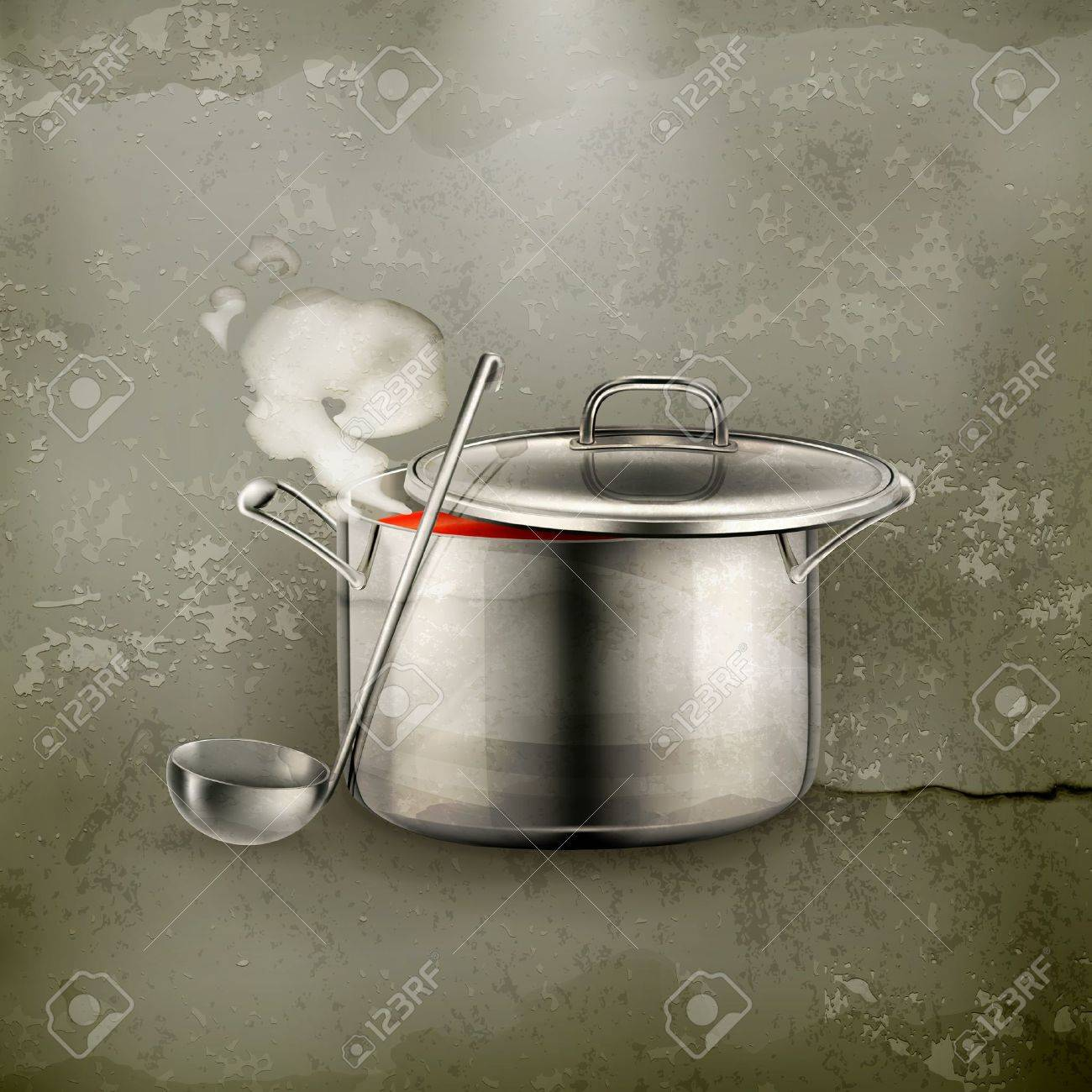Hot soup, old-style Stock Vector - 16295489