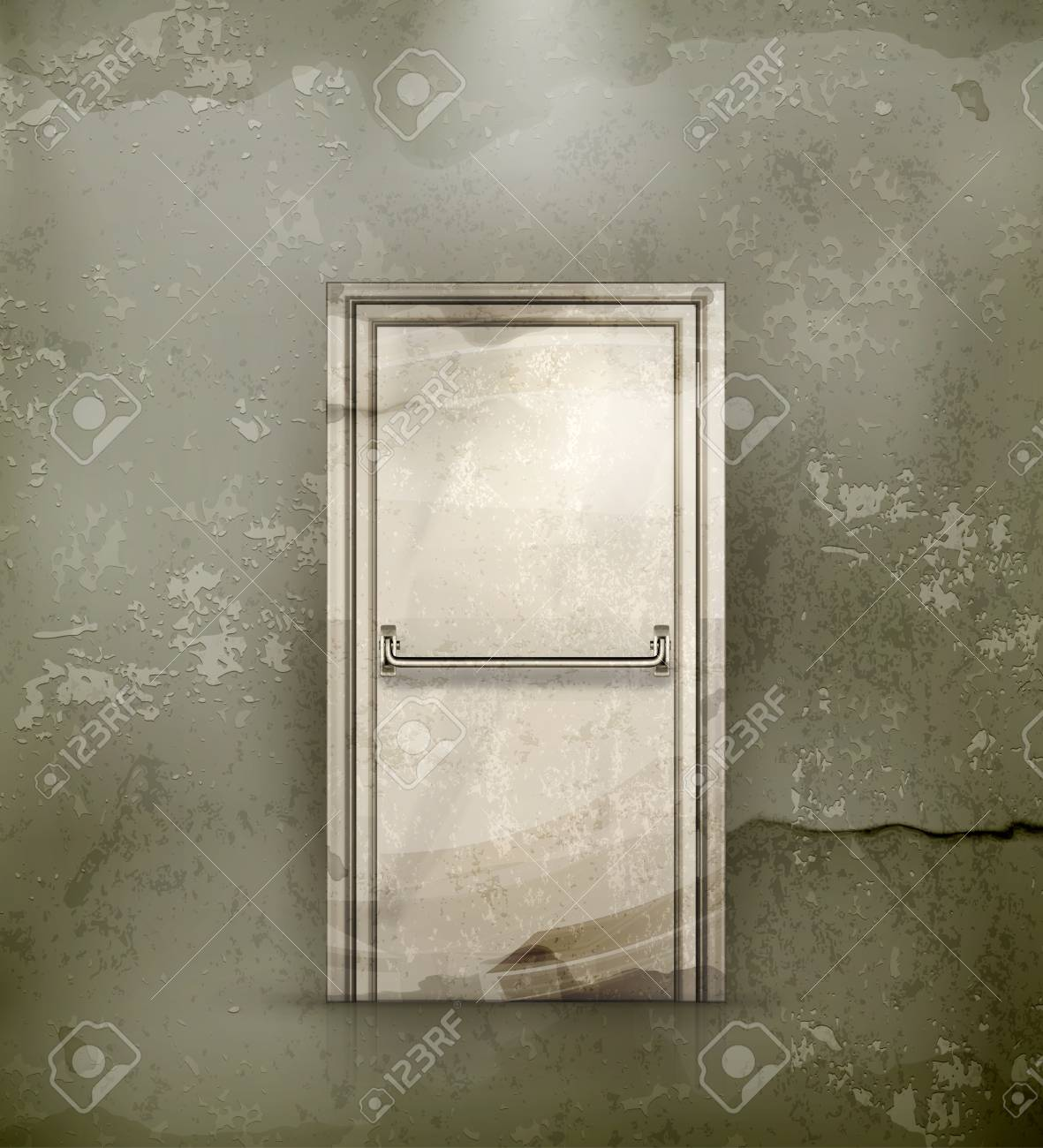Exit Door, old-style Stock Vector - 16728152