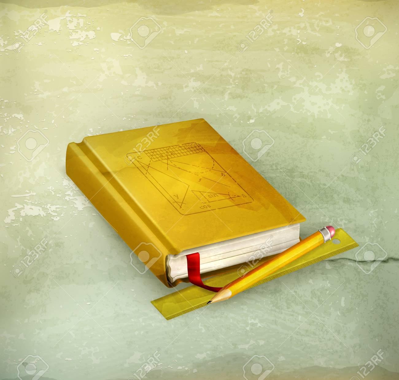 Schoolbook, old-style Stock Vector - 16728123