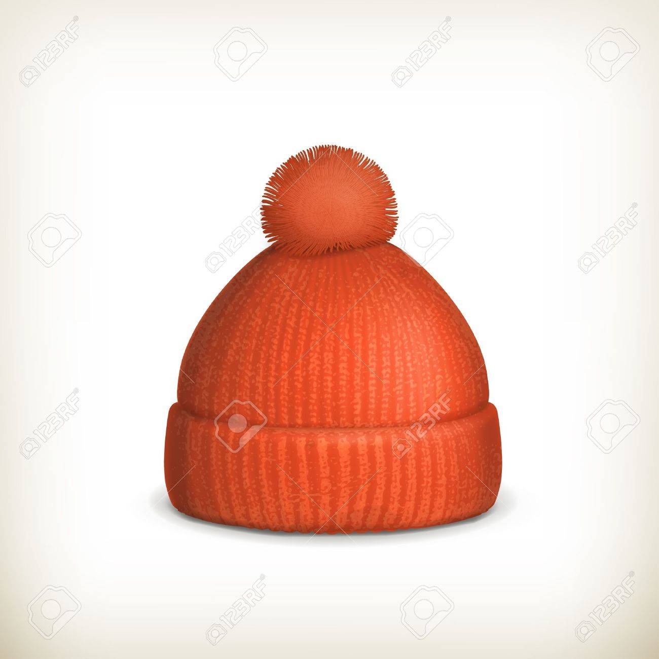Knitted red cap Stock Vector - 16728061