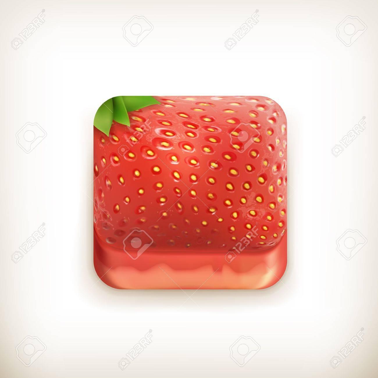 Strawberry app icon Stock Vector - 18825013
