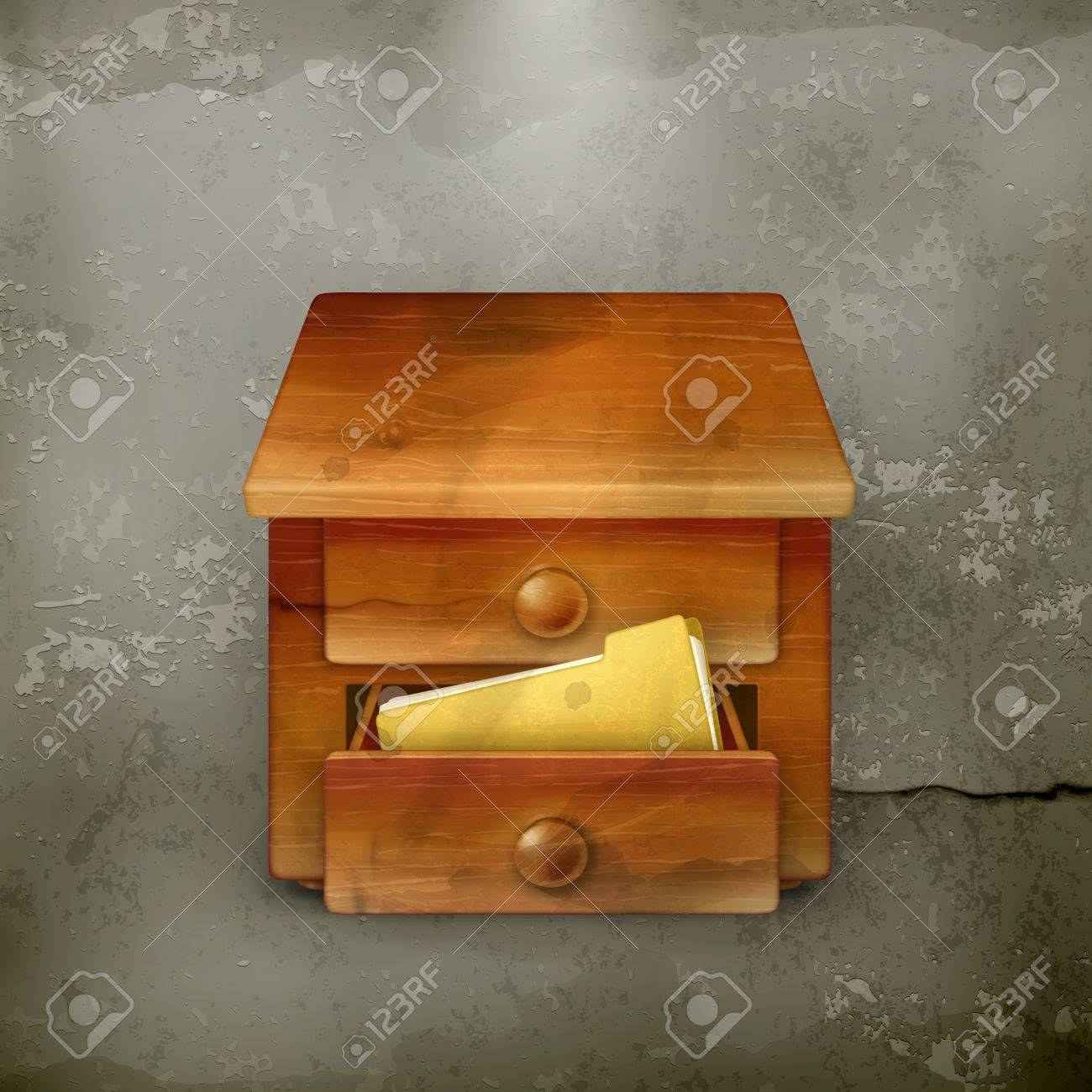 Secretary desk, old-style Stock Vector - 18825193