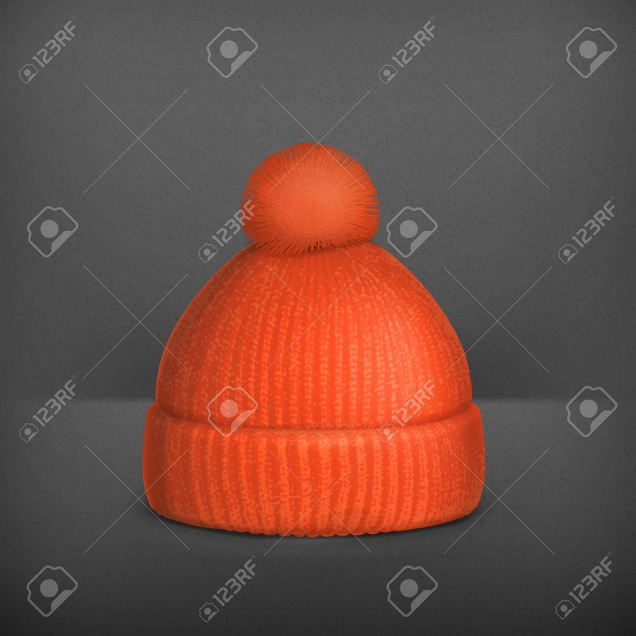 Knitted red cap Stock Vector - 19331626