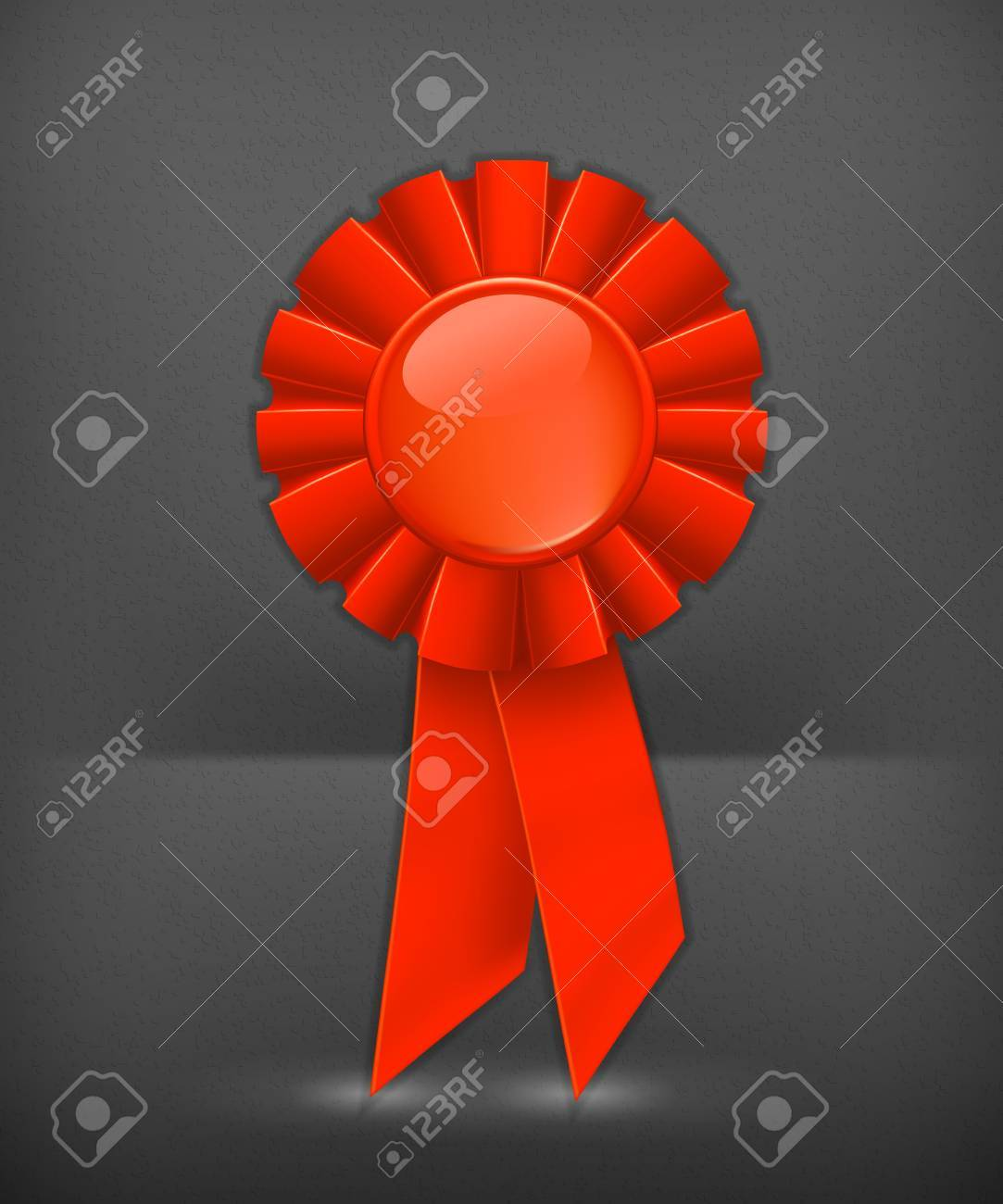 First place red ribbon Stock Vector - 19346646