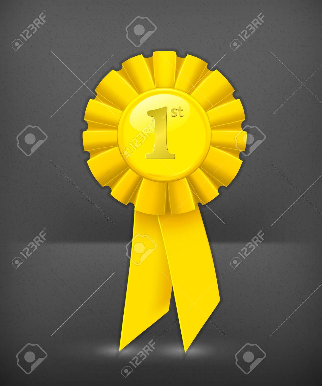 First place yellow ribbon Stock Vector - 19346638