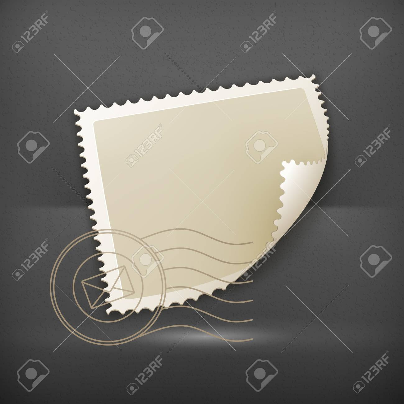 Blank Postage Stamp Stock Vector - 19437837
