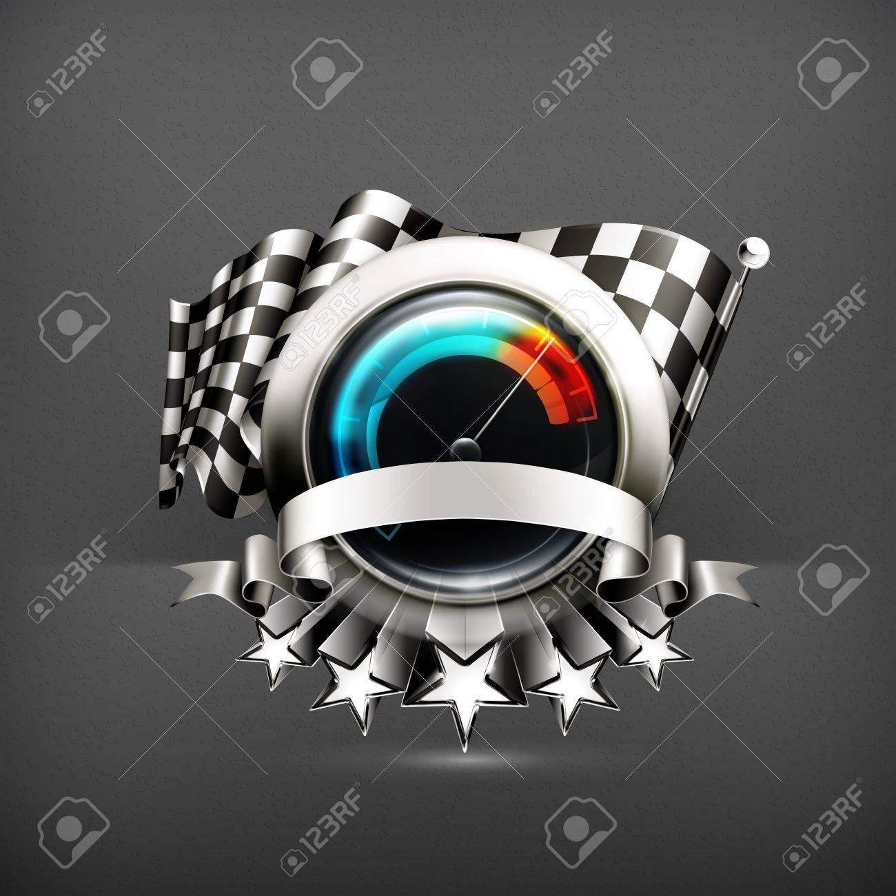 Racing emblem Stock Vector - 19556372