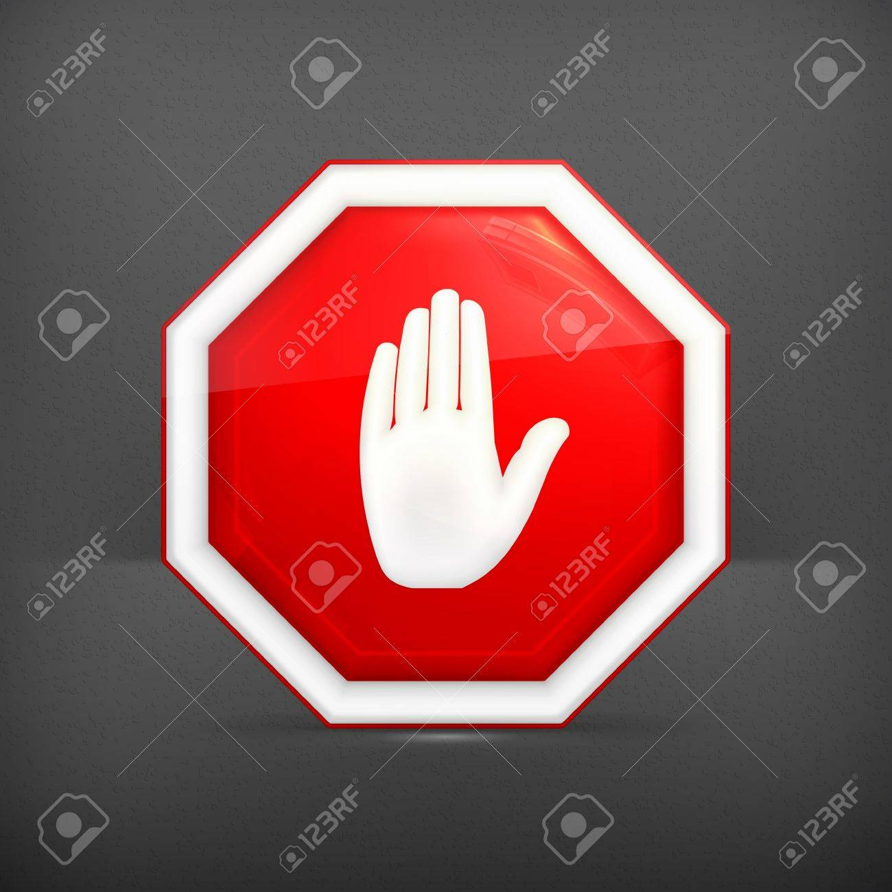 Stop sign Stock Vector - 19621436