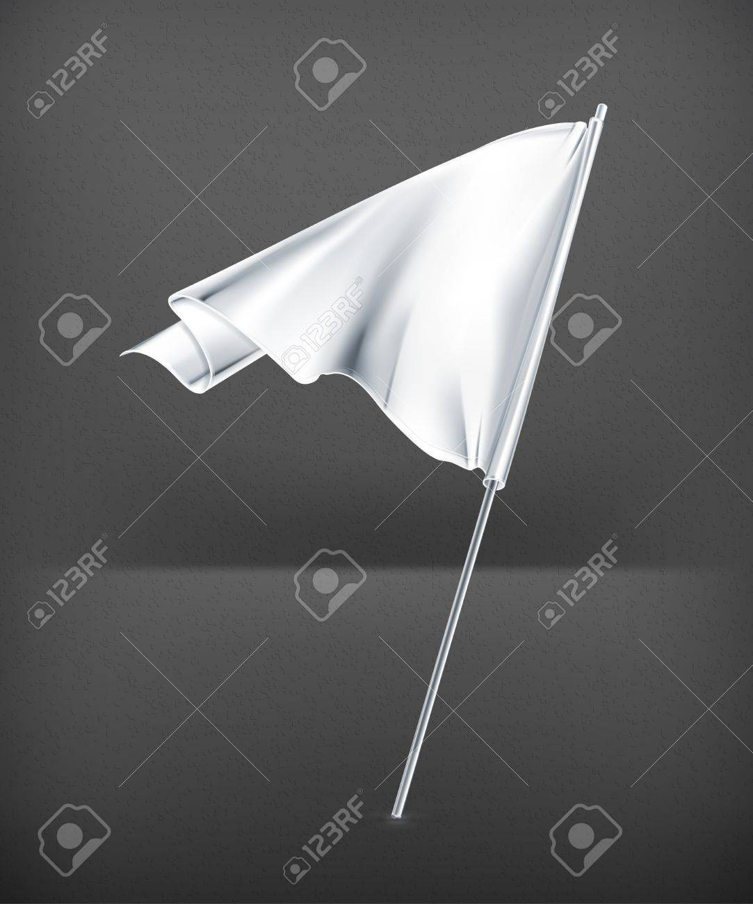 White flag Stock Vector - 19621413