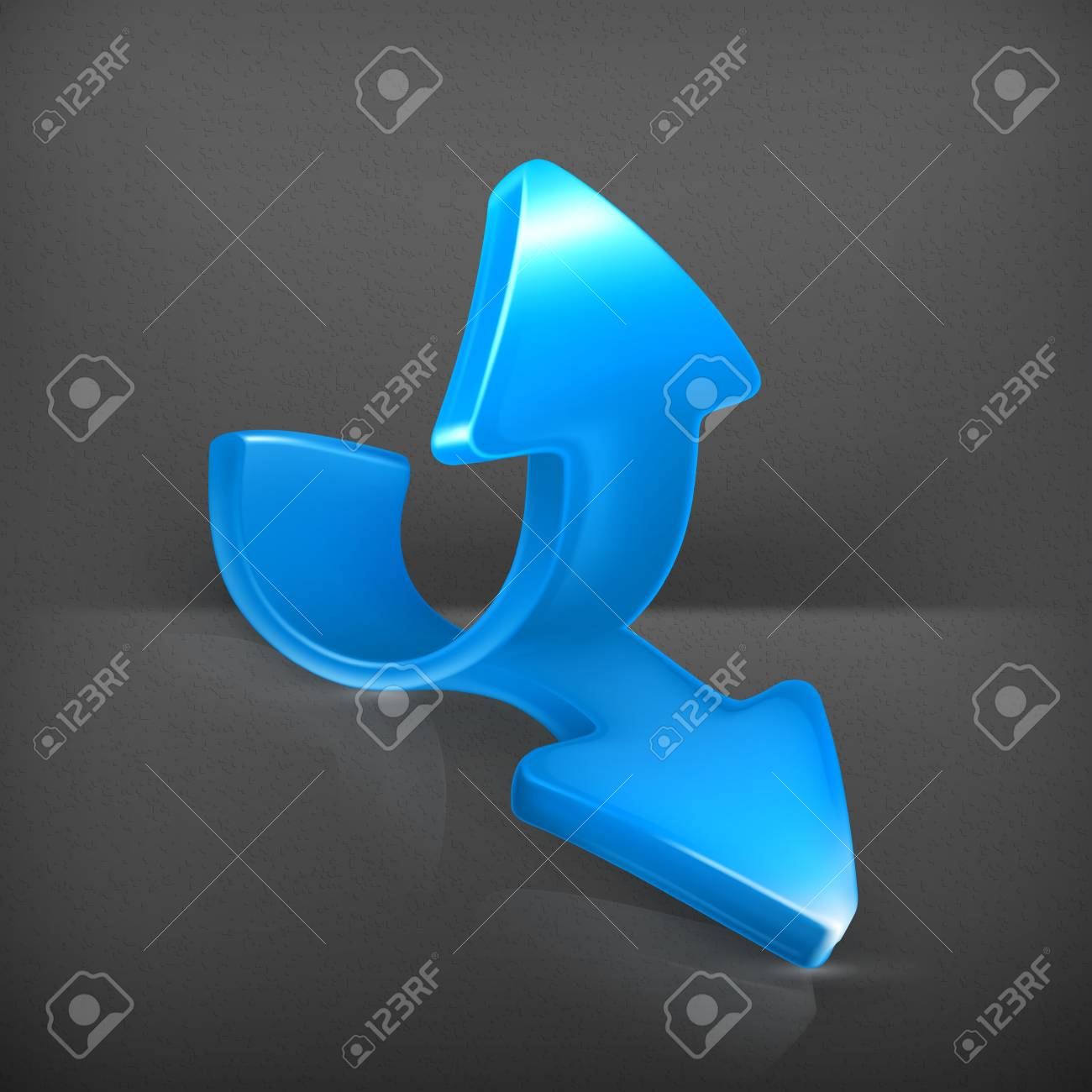 Emblem of blue arrows Stock Vector - 19713213