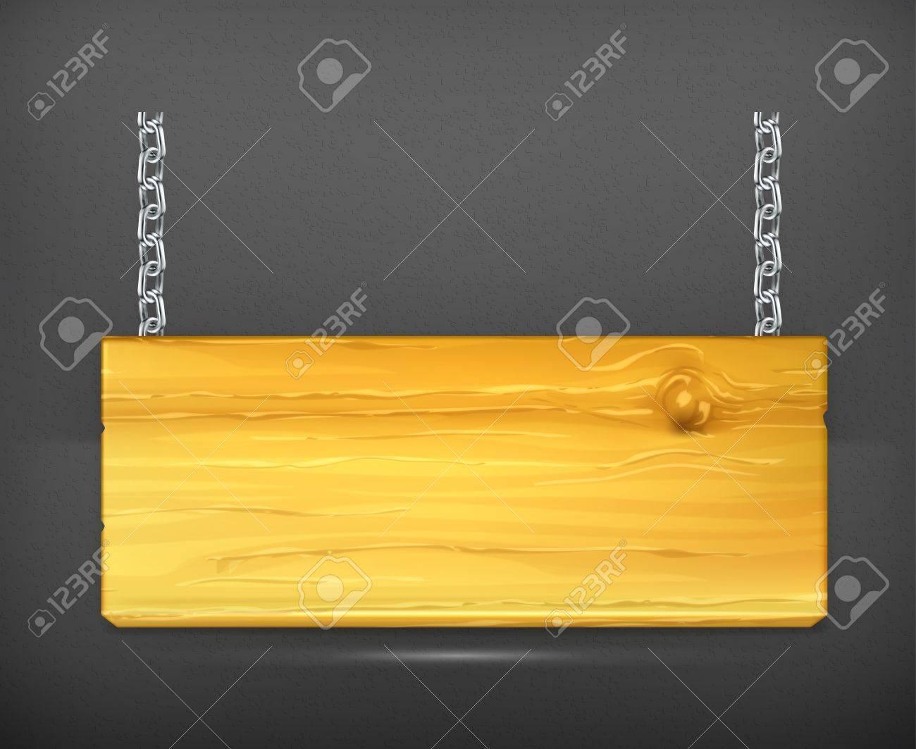 Wooden sign Stock Vector - 19713384