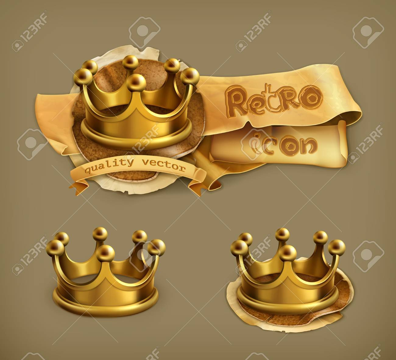Gold crown Stock Vector - 22221957