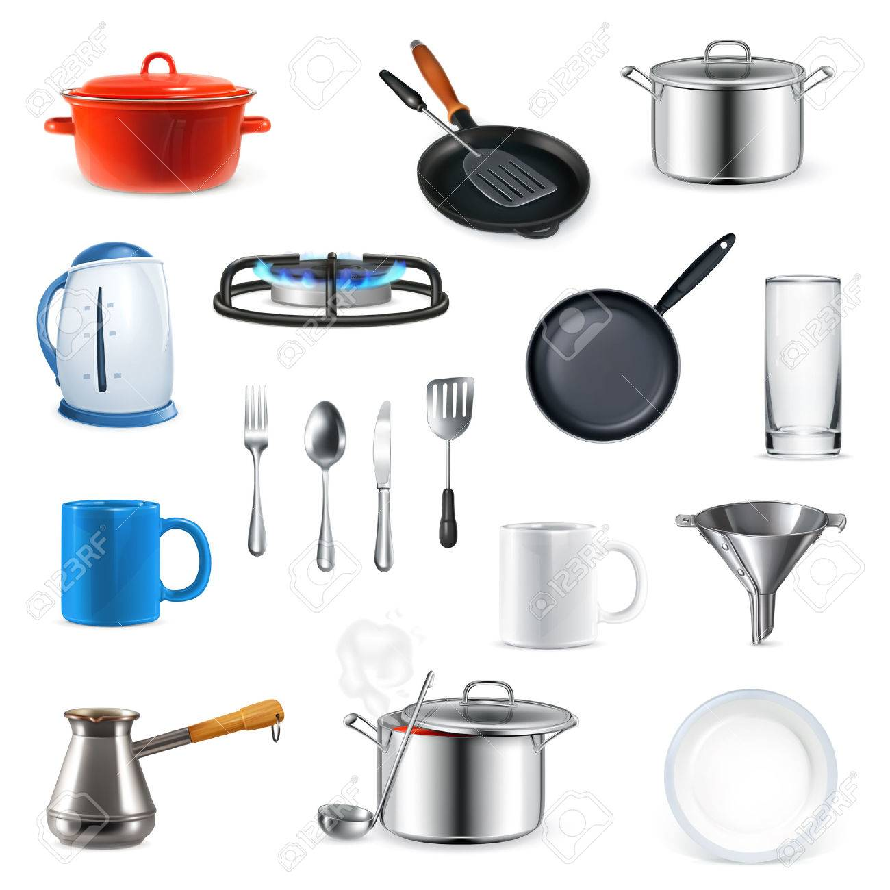 Kitchen utensils, vector set - 33198555