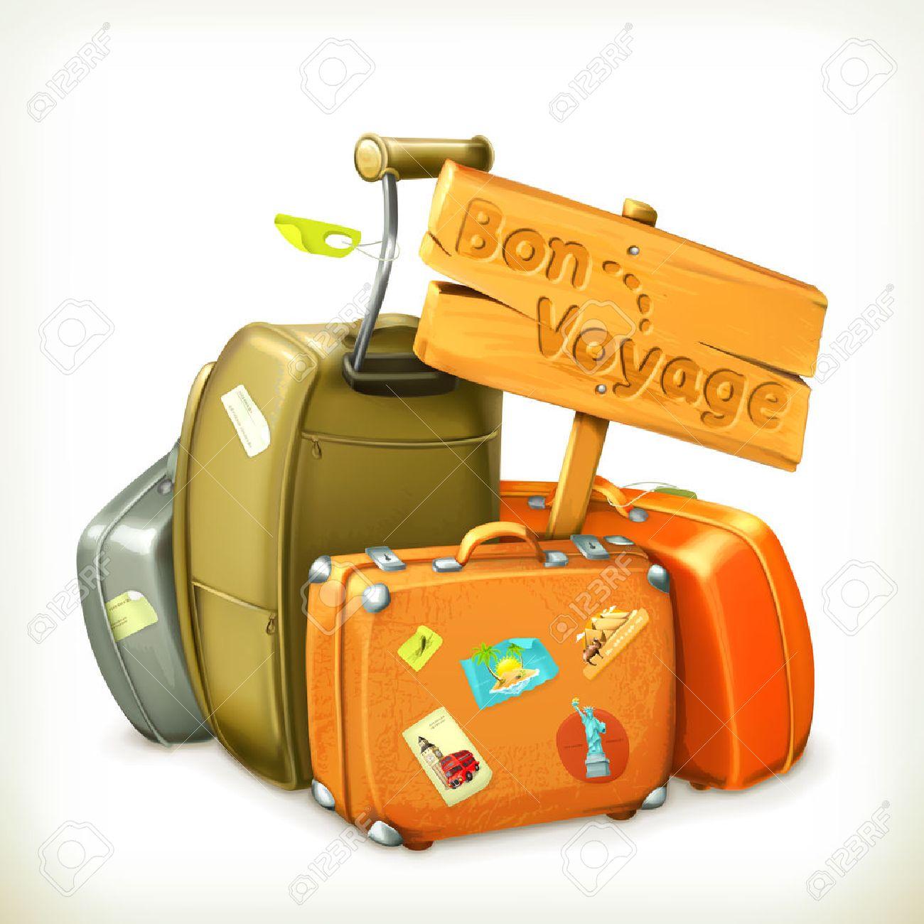 Bon voyage word travel icon - 35091590