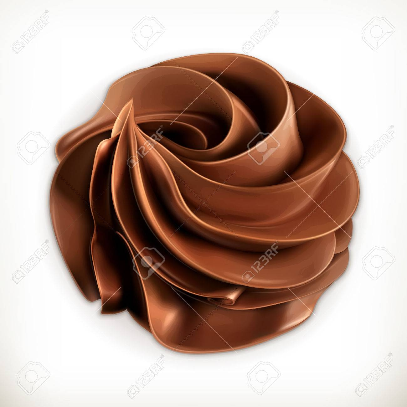 Chocolate whipped cream, vector icon Stock Vector - 38736027