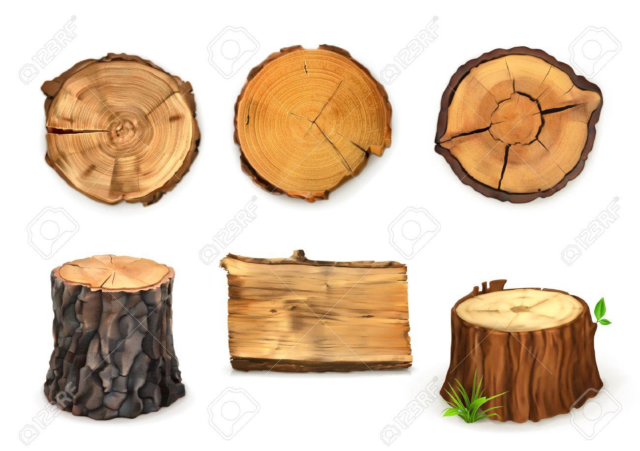 Wooden banner, vector Stock Vector - 38985763