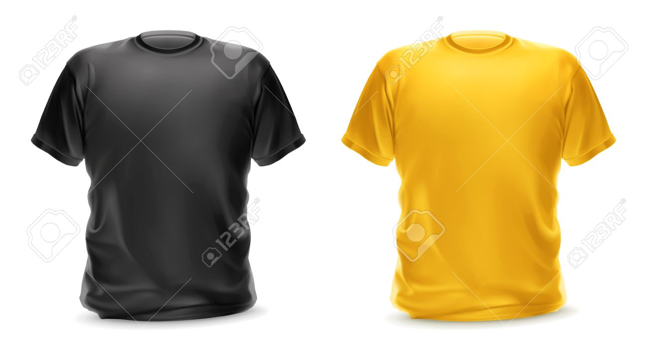 Black And Yellow T-shirt, Vector Isolated Object Royalty Free ...